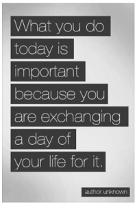 the value of today